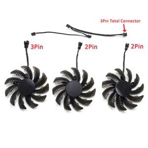 75 milímetros PLD08010S12H 2Pin 3Pin Cooling Fan Substituição para Gigabyte GTX 960 970 GTX980 GTX 1050 Video Graphics Cartão Cooler Fan