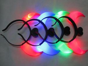 LED Light Up мигающий Devil Рога оголовье Светящиеся Devil Horns LED костюм оголовье Halloween Night Light