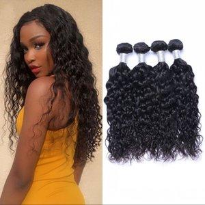 Indian Water Wave Human Hair Bundles Natural Color Virgin Hair Extensions Wet and Wavy 4 Bundles Hair Weaves