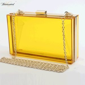 Women Acrylic Clear Transparent Crossbody Purse Pvc Bag Sport Events Stadium Approved Strap Gold Hasp Silver