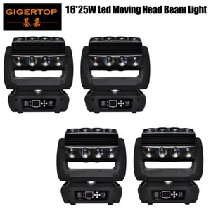 GIGERTOP 4 Unit 16x25W RGBW Led Moving Head Light 4IN1 400W High Brightness Mirage Led Moving Head Spider Light Hanging Bracket