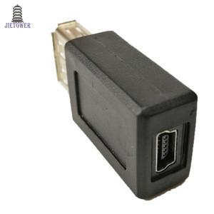100 unids / lote Alta Velocidad USB 2.0 Tipo A Hembra a Mini USB 5pin B Hembra Convertidor Conector Cargador Adaptador de sincronización de Datos de Transferencia