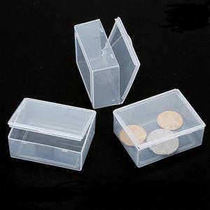5.3 * 4 * caja de almacenamiento Caja de 1.9CM Mini duro y cuadrado de plástico transparente para la herramienta de bricolaje uñas de arte de la joyería en piedras de accesorios Crafts recipiente caso