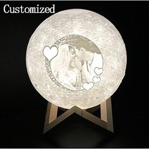 PERSONNALISÉ LED Table Lights Moon Night Light Simple Éclairage Intérieur Éclairage Living Study Lamp Lampes PERSONNALISÉES Créativité Cadeau D'anniversaire De Mariage Personnaliser