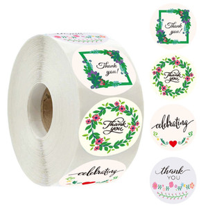 500pcs roll 1 inch gift package thank you stickers labels for wedding baby shower with 4 designs homemade baking adhesive stickers labels