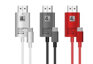 2M نوع C إلى كابل HDMI محول 4K USB من النوع C إلى HDTV كابل HDMI ذكر إلى ذكر محول HDTV للحصول على سامسونج S8