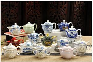 Théière en porcelaine de Kung Fu chinoise avec infuseur fait à la main Dragon Flower Puer Tea Pot 350ml en céramique Samovar Kungfu Teaware