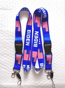 Biden Trump Letters Printed Neck Lanyards US America Flag Sling for Cell Phone ID Card Keychains Strap Neck Ropes 1lot 10piece D61603