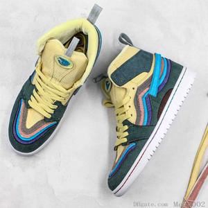 Arkalık Gölge Çok renkli Sneakers Sean Wotherspoon Shattered İyi Kalite 1s 2019 Nrg Basketbol Ayakkabı Yüksek Renkli Kadife