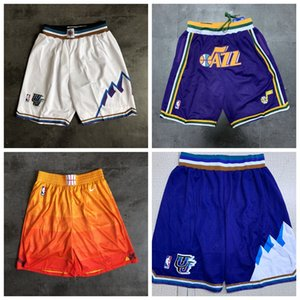 Utah UomoJazz Dichiarazione delle prestazioni swingman di pallacanestro Pantaloncini Pantaloni felpa Retro appena don Pocket pantaloncini da basket Pantaloncini