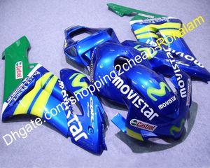 Motorcycle Parts For Honda Fairing CBR1000RR 2004 2005 CBR1000 RR 04 05 MoviStar Moto Blue Green Fairing Kit (Injection molding)