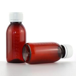 Flasche Sirup 100Ml Plastikflasche Schraubverschluss transparente Plastik Reagensflasche PET Health Care Medicine Flüssigkeitsflaschen