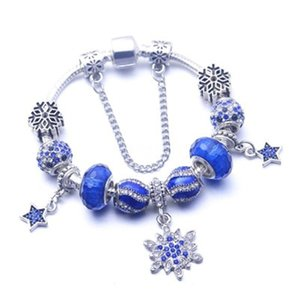 Wostu 100% 925 branelli di fascini sterlina lega Poetic Blooms braccialetti del braccialetto per le donne misura i monili DIY originale regalo Xchs919 J190703 # 785