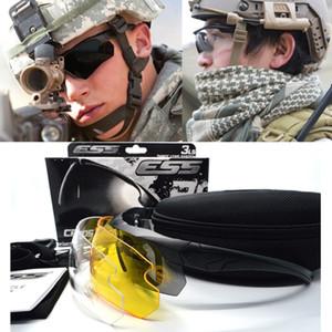 멋진 남자입니다 UV400 100 % 방사선 방호 전술 안경 / 렌즈와 안경 케이스 3 쌍을 포함 가방 안경.