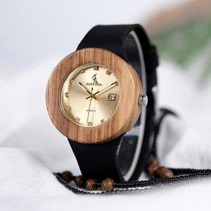 omen's Watches Quartz Wristwatches Luxury BOBO BIRD Complete Calendar Watch Women Zebra Wood Wristwatch Genuine Leather Band Wooden Watch...
