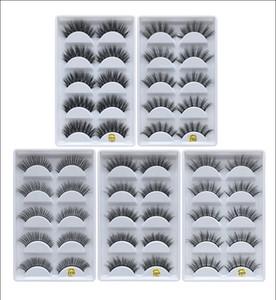 F810 F820 F830 F840 F850 공장 도매 가격 5model 5pais 눈 내 말굽 자연 거짓 속눈썹 5 쌍 3D 밍크 속눈썹