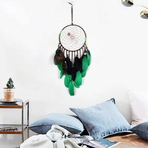 India Vida Retro Árbol Colorido Pluma Dream Catcher Wind Chimes Colgando Dreamcatcher Fiesta de Navidad Decoración Del Hogar
