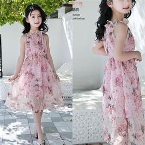 Chiffon- Kleid der neuen Mädchen des Sommers ozeanisches Schulterfreies Rockstrandrock-Feiertagskleid