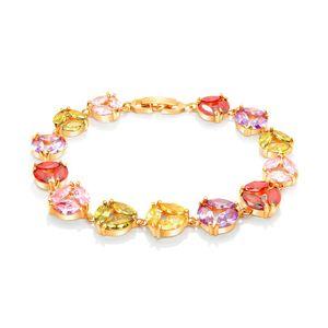 Multi-color Charm Armbänder 18k Gold Shining Diamond Luxury Elegant Designer Schmuck Accessoires für Frauen Hochzeit Engagement Armband Geschenke