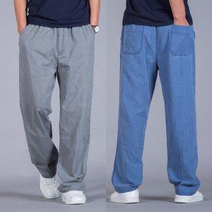Pantaloni per il tempo libero da uomo Easy Flax Uomo Aumentare 2019 Fertilizzante direttamente lungo tubo di cotone pantaloni Pantaloni da jogging maschile pantalon hombre