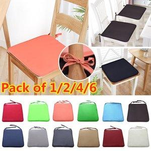 1pcs Bonbons Couleurs Coussin jardin Tissu uni Coussin uni à manger européenne Chaise Creative Sofa Fabric 37 * 37cm 7