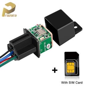 Mini Car Tracker Relé veículo Tracker com SIM Card MV720 corte de combustível GSM GPS Realtime trilha Excesso de velocidade Alarm Free Web