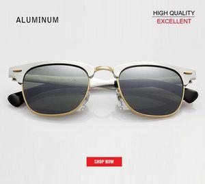 Top-Qualität 2019 Mode Herrenclub Sonnenbrille Retro-Master Aluminium rd3507 Elegante Fabrik Sonnenbrille Stern Quecksilber Sonnenbrille Frauen Gafas
