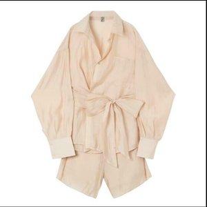 mejores hombres coreanos de moda de verano pierde calidad traje de manga larga + bf pantalones de pierna ancha pantalones cortos