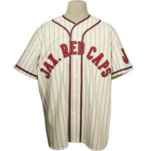 Jacksonville Red Caps 1938 Jersey 100% camisetas de béisbol cosido insignias del bordado de la vendimia de encargo cualquier nombre cualquier número S-6XL