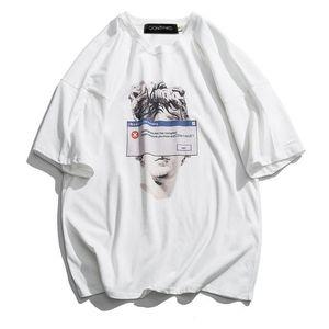 Mens Funny Michelangelo Statue David Print T-Shirts Casual Streetwear Tops Tees Hip Hop Summer Short Sleeve Male T-Shirts