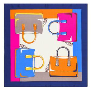 MENGLINXI 60см * 60см 2019 Новый люксовый бренд Письмо G Сумка Женщины саржевого шелковый шарф Малый квадрат шарфы Печать оголовьем