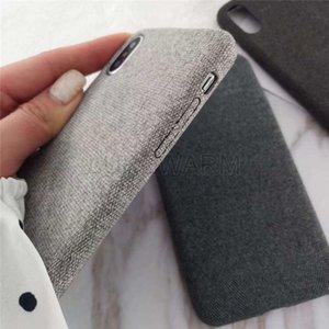 Iphone X XS MAX XR 8 7 6 S Silikon Telefon Kılıfları iphone 6 S 6 7 8 Artı X Kumaş Bez Doku Yumuşak TPU Coque Vaka
