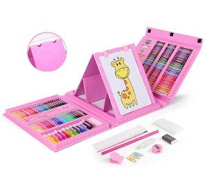 Niños 208 lápices de colores neutros acuarela pastel suministros de aprendizaje 3-6 arte herramientas de pintura Conjunto de estudiante