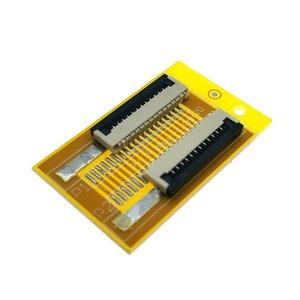 12 دبوس 1.0MM وحة محول المقبس الموصل الشركة العامة للفوسفات FFC PCB، 12P كابلات مسطحة تمتد لواجهة شاشة LCD