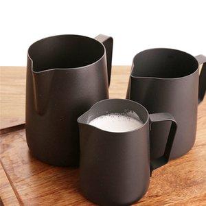 Non Stick Teflon lait en acier inoxydable Frothing Pitcher Espresso Café Barista Artisanat Latte Cappuccino Crème Frothing Pitcher Jug