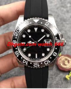 Nuova versione degli uomini di modo l'orologio 40 millimetri 116710 Black Rubber Strap quadrante nero di lusso automatico Trasporto libero della vigilanza
