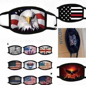 18styles Trump Face Mask Cotton Trump 2020 Masks Cloth Anti-dust Mask Woman Men Unisex Fashion Winter Warm Black US Flag Masks GGA3546-6
