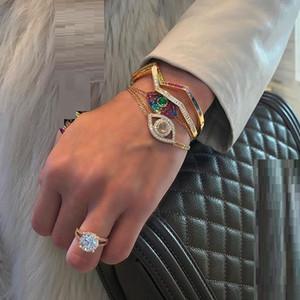 волна группа манжеты браслет Браслет мода роскошь безель багет кубический цирконий искрящийся bling высокое качество мода женщины ювелирные изделия