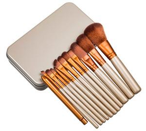 Maquiagem 12 pcs / set pincel de maquiagem Conjuntos escova kit para Eyeshadow Blush Cosmetic Brushes Ferramentas RRA2105