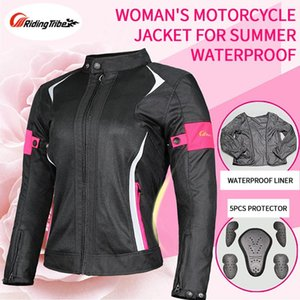 Women Motorcycle Jacket Pants Lady Set Breathable Mesh Riding Raincoat Safety Suit Motorbike Jacket For Spring Summer jk-52