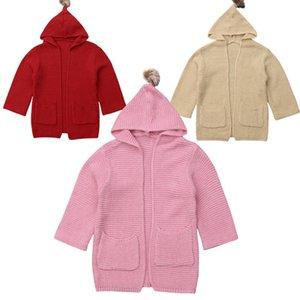 Mode Baby warmer Winter-Mantel mit Kapuze Strickoberbekleidung Mädchen Kids Snowsuit Kleinkind Jacke Top