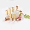 5-100ml Портативный матовое прозрачное стекло Gold Top Spray / Насосные Бутылки Mist опрыскиватель Контейнер для путешествий Refillable Bottle Прозрачный матовое золото