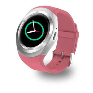 IPHONE 삼성 화웨이 : 핫 스마트 시계 Y1 컬러 화면 단계 수면 모니터링 알람 시계 스마트웨어 Bluetooth 카드 스포츠 watchs