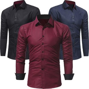 Männer Shirts Formal Italienisch Kleid Designer Casual Luxury Shirts Regular Fit Solide Striped Formal Business Casual