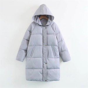 Chaqueta Baqcn Señora del invierno mujeres del otoño altos de calidad Parkas femeninos gruesos de invierno chaquetas Outwear Las mujeres de cuello de piel caliente Coats T191102