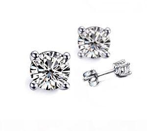 4 Carat pair carrello orecchini per le donne 4 Prong placcato platino fidanzamento anniversario SONA diamante sintetico Orecchini