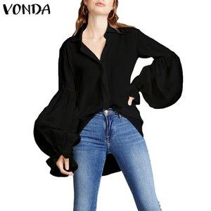 Lantern Sleeve 5XL Women Bohemian Blouse 2019 Estate Autunno Autunno Sexy Beach Vintage VONDA Blusas Casual Plus Top Camicie Tunica
