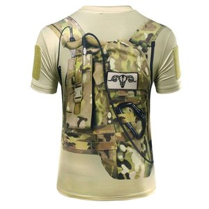 2019 Army Shirt Men Style 3D Military Camo Hiking Sport T shirt Tactical Outdoor Fast Dry Shirt Hunting Apparel tshirt