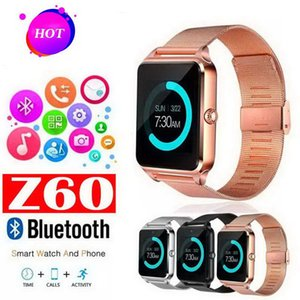 Bluetooth Smart Watch Phone Z60 Stainless Steel Support SIM TF Card Camera Fitness Tracker GT08 GT09 DZ09 A1 V8 Smartwatch for IOS Android