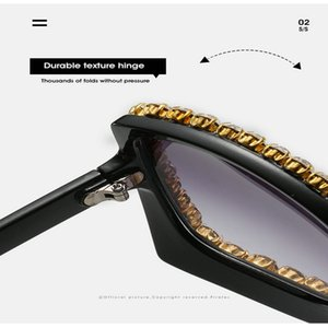Diamond sunglasses frame KEHU Women Brand Design Butterfly Cat Eye Sunglasses Vintage Brand Designer Crystal Diamond Frame Sunglasses k9107